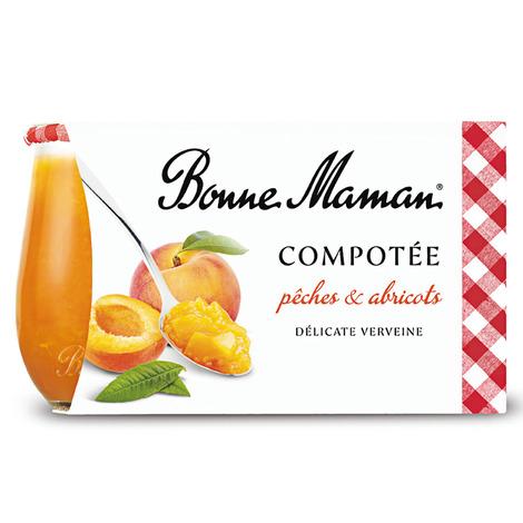 Compotée de Pêches et Abricots délicate Verveine - Bonne Maman