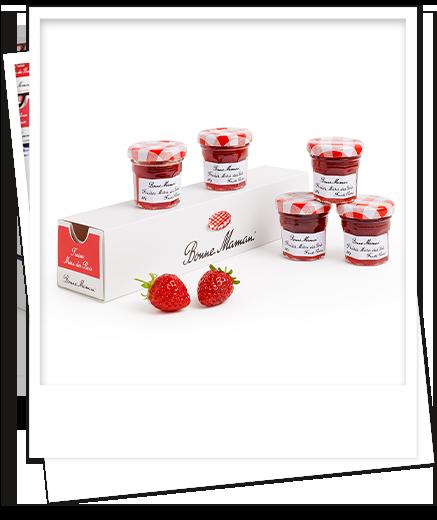 petits pots fraises mara des bois - bonne maman